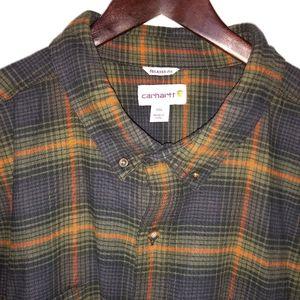 Men's Carhartt, button up, long sleeve, Sz 4XL